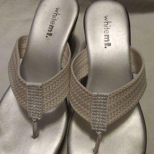 White Mountain wedge Heel Sandals